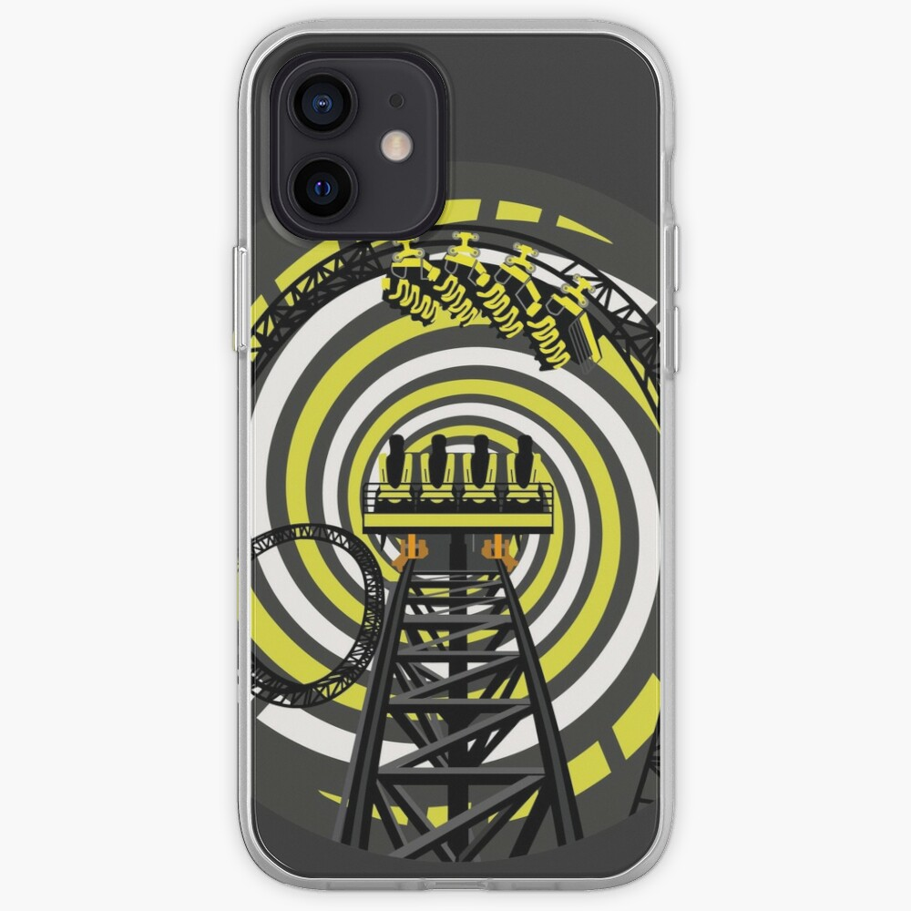 SMILE FOREVER Shirt Design - Black and Yellow Gerstlauer Infinity Coaster iPhone Case & Cover
