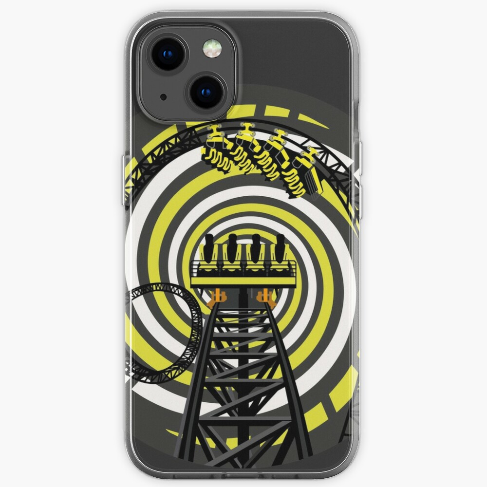 SMILE FOREVER Shirt Design - Black and Yellow Gerstlauer Infinity Coaster iPhone Case