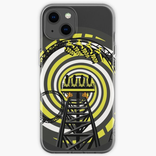SMILE FOREVER Shirt Design - Black and Yellow Gerstlauer Infinity Coaster iPhone Soft Case