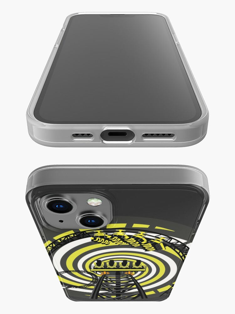 Alternate view of SMILE FOREVER Shirt Design - Black and Yellow Gerstlauer Infinity Coaster iPhone Case