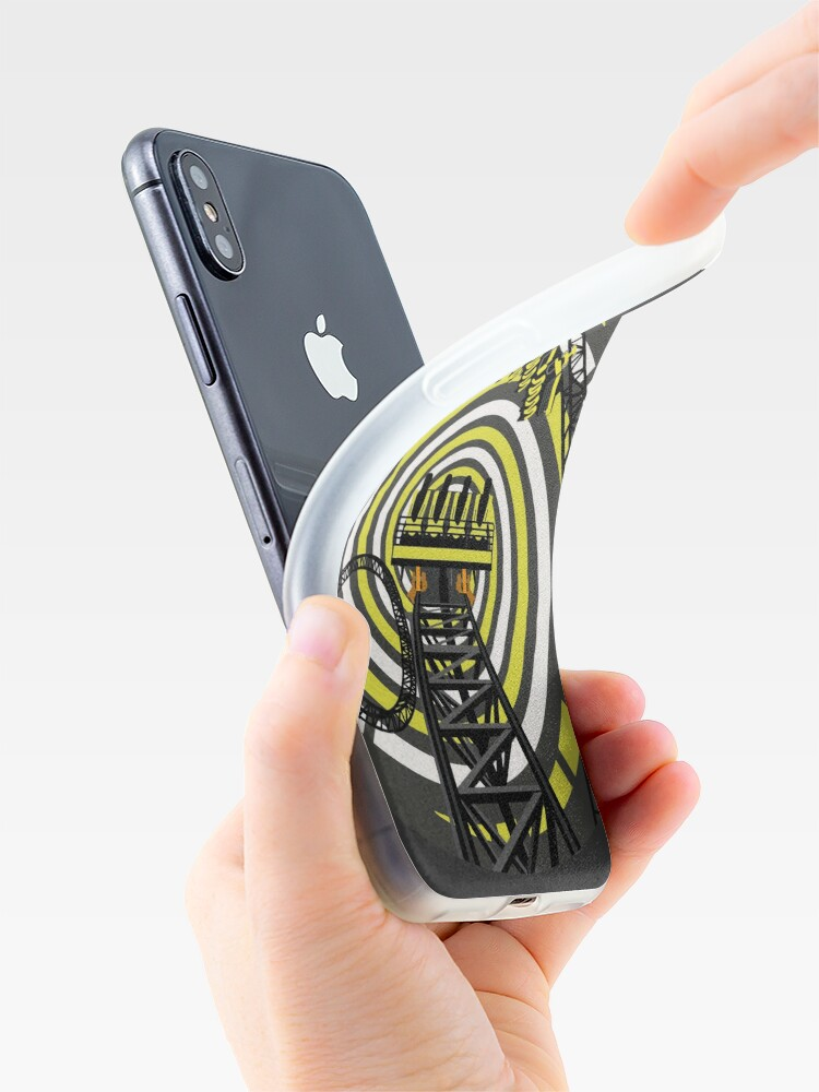 Alternate view of SMILE FOREVER Shirt Design - Black and Yellow Gerstlauer Infinity Coaster iPhone Case & Cover