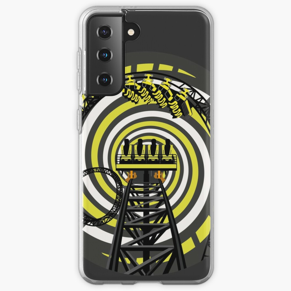 SMILE FOREVER Shirt Design - Black and Yellow Gerstlauer Infinity Coaster Case & Skin for Samsung Galaxy