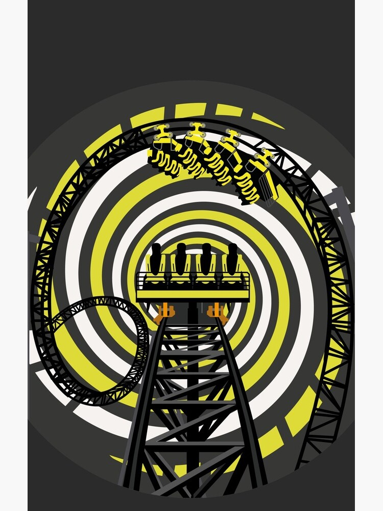 SMILE FOREVER Shirt Design - Black and Yellow Gerstlauer Infinity Coaster by CoasterMerch