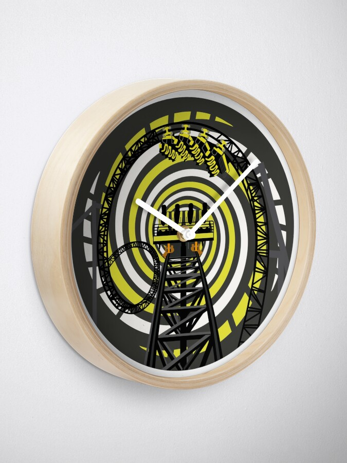 Alternate view of SMILE FOREVER Shirt Design - Black and Yellow Gerstlauer Infinity Coaster Clock