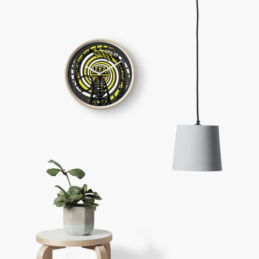 SMILE FOREVER Shirt Design - Black and Yellow Gerstlauer Infinity Coaster Clock