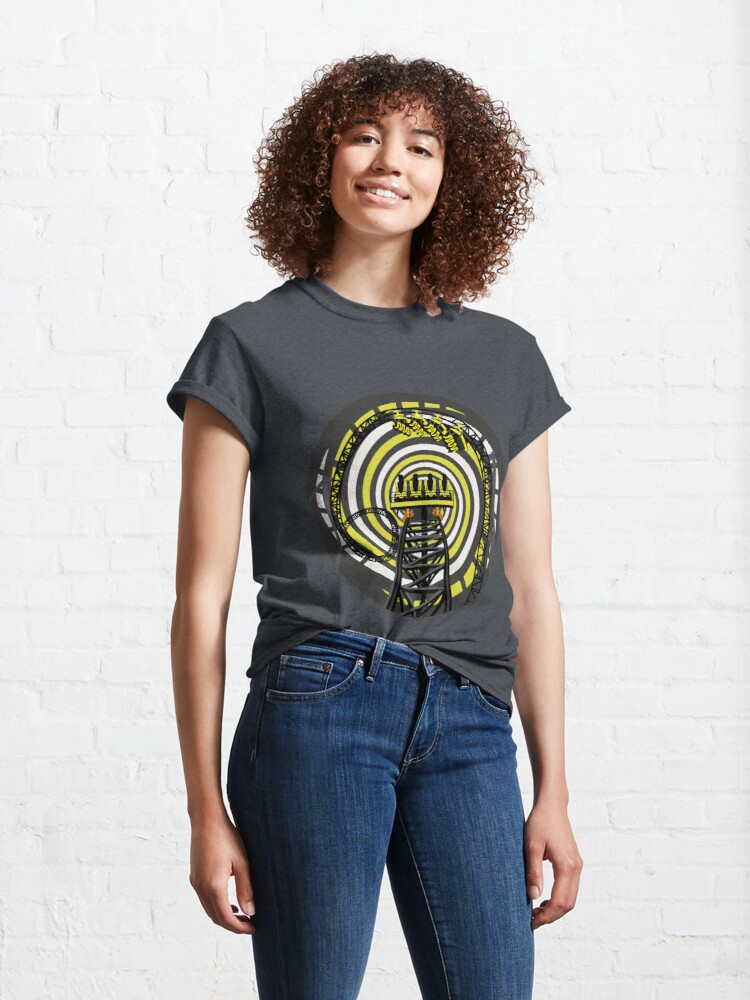 Alternate view of SMILE FOREVER Shirt Design - Black and Yellow Gerstlauer Infinity Coaster Classic T-Shirt