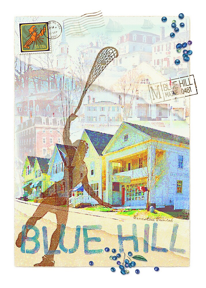 Blue Hill Collage by ernestine