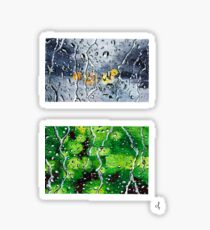 Rainy Windows Painting Sticker