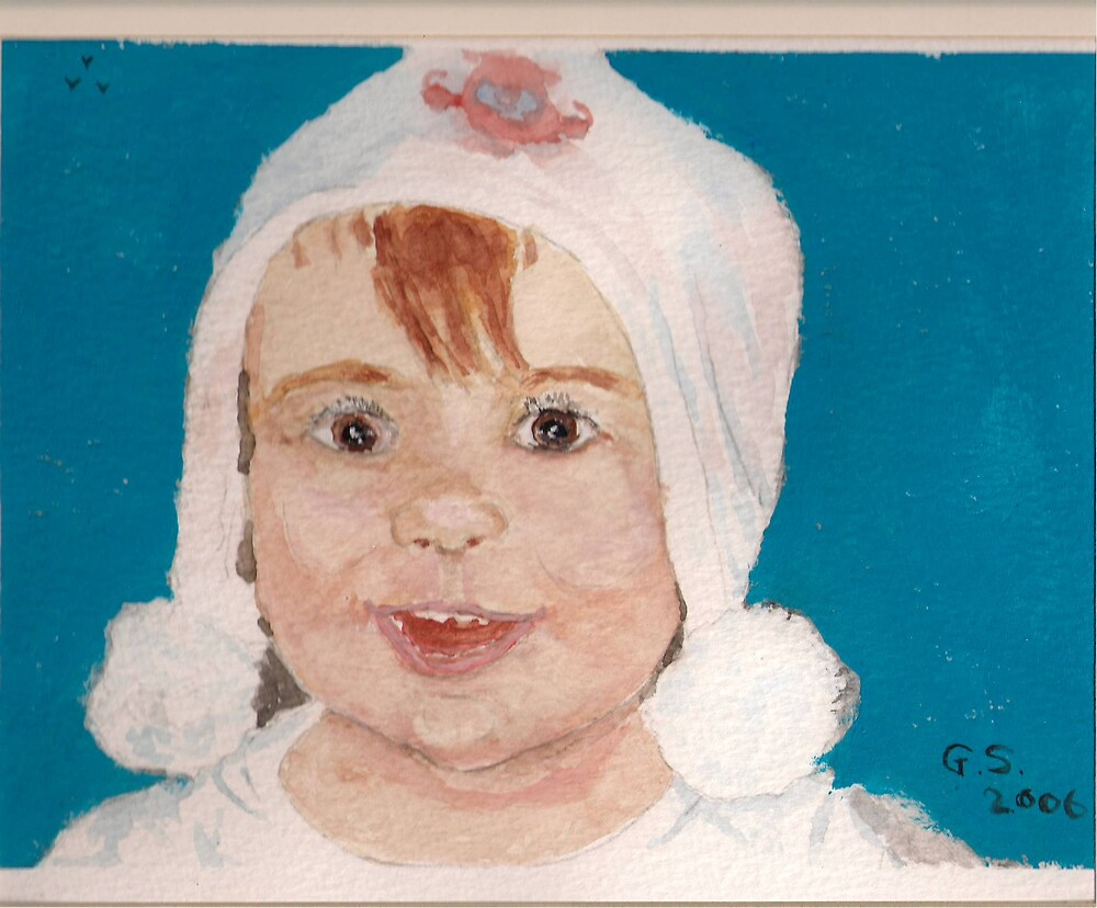 Aimee, aged two by GEORGE SANDERSON