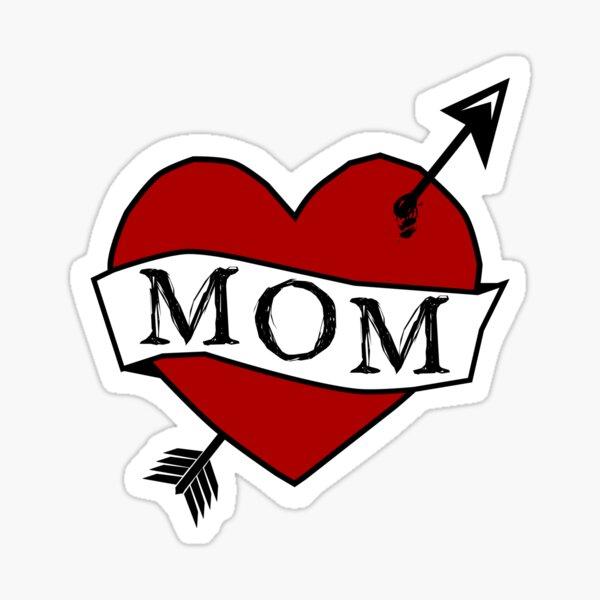 LOVE MOM - retro MOM tattoo design Sticker