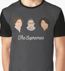 The Supremes (3, with eyes, white text) Graphic T-Shirt