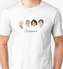 Die Supremes (schwarzer Text / weißer Hintergrund) Slim Fit T-Shirt
