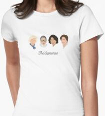 Die Supremes (schwarzer Text / weißer Hintergrund) Tailliertes T-Shirt für Frauen