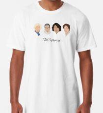 Die Supremes (schwarzer Text / weißer Hintergrund) Longshirt