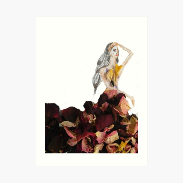 Princess Of Flowers: Fashion Illustration Art Print