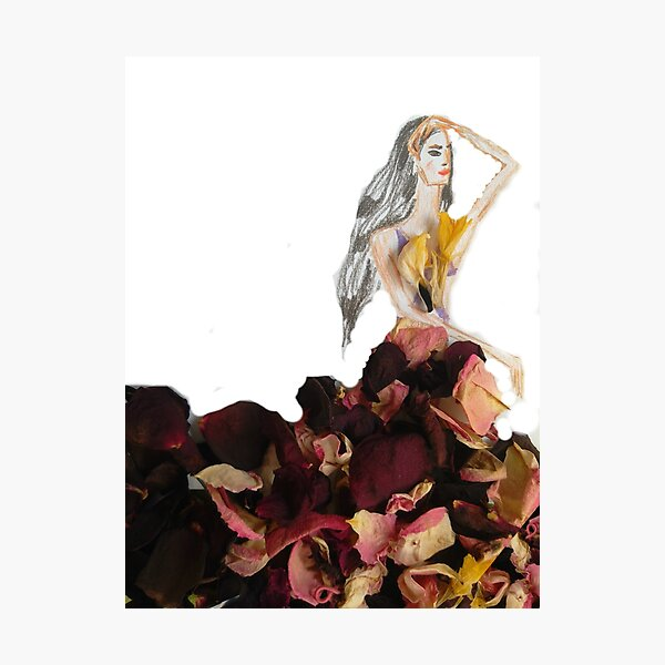 Princess Of Flowers: Fashion Illustration Photographic Print