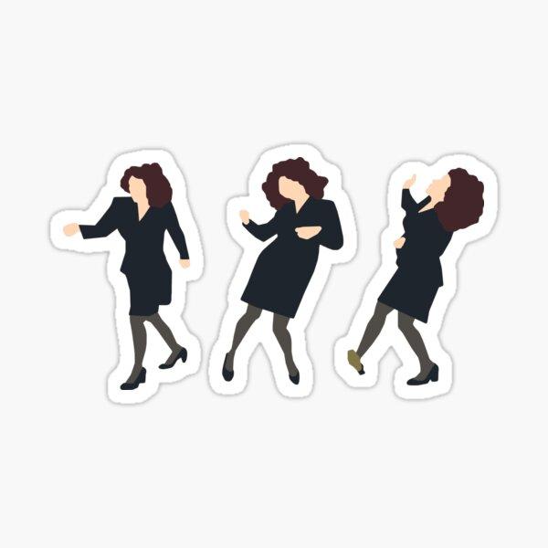 Elaine Dancing (original green) Sticker