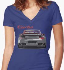 Porsche 997 Turbo Women's Fitted V-Neck T-Shirt