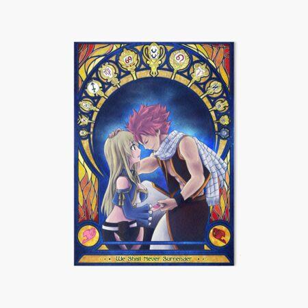 Natsu and Lucy Art Board Print