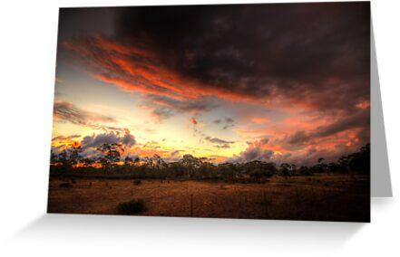 Stormy Sunset by Rikki  Pool