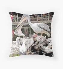 """""""How's The View?"""", Photo / Digital Painting Throw Pillow"""