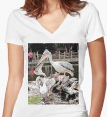 """""""How's The View?"""", Photo / Digital Painting Women's Fitted V-Neck T-Shirt"""