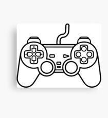 Minimalist Playstation Controller Canvas Print