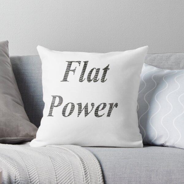 Flat power, Flat Earth, model, archaic conception, earths shape, plane, disk Throw Pillow