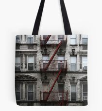 Red Fire Escape, Cast Iron District, New York City Tote Bag