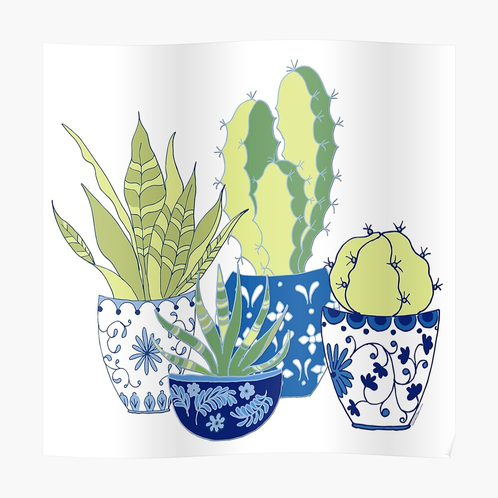 Chinoiserie Cactus Poster