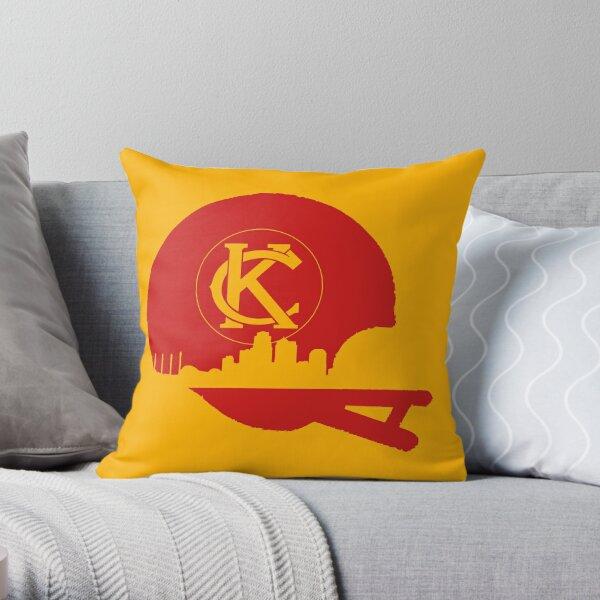 KC Skyline Helmet Throw Pillow