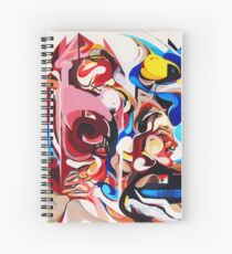 Expressive Abstract People Composition painting Spiral Notebook
