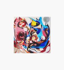 Expressive Abstract People Composition painting Art Board Print