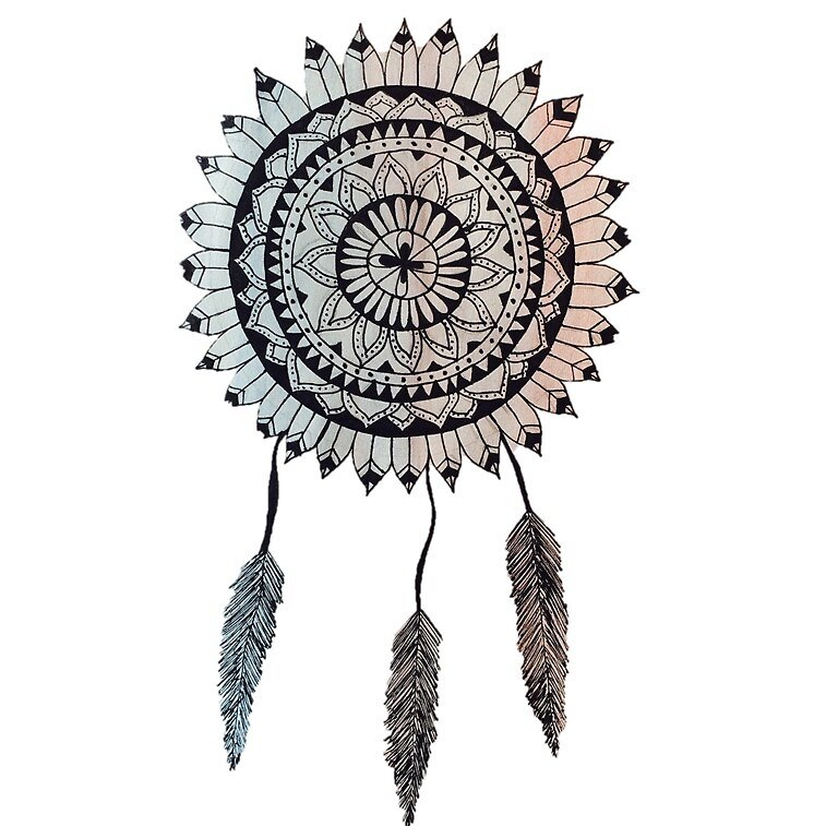 """Minimalist Dream Catcher Mandala"" by copernicus-art ..."