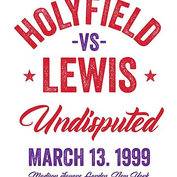 Lewis vs Holyfield Fight - Boxing T-shirt by TeeMonsters