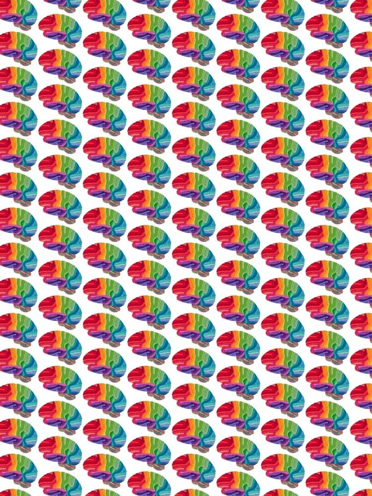 Embroidered Look - Rainbow Brain  by Laurabund