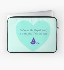 Find me at the Norfolk coast - love heart. Laptop Sleeve