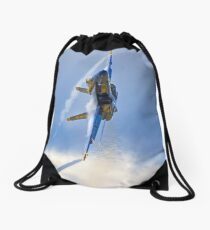 Blue Angel Action Shot Drawstring Bag