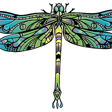 Dragonfly Graphic Tee by LOrnamentalArt