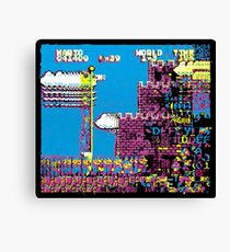 Super Mario Brothers Psychedelic Glitch Canvas Print