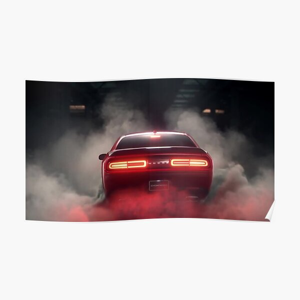 Dodge Challenger Burnout Poster Poster