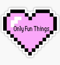 Pixel OFT Heart Only Fun Things Sticker