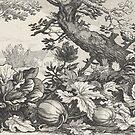 Pumpkin Patch etching by Abraham Bloemaert and Boëtius Adamsz. Bolswert 1614 by GlitterandDecay