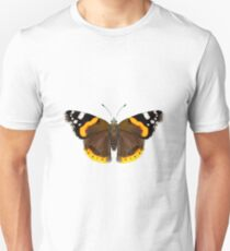 Red Admiral Butterfly Watercolor Painting Wildlife Artwork Unisex T-Shirt