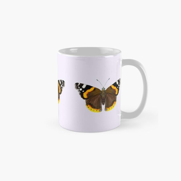 Red Admiral Butterfly Watercolor Painting Wildlife Artwork Classic Mug