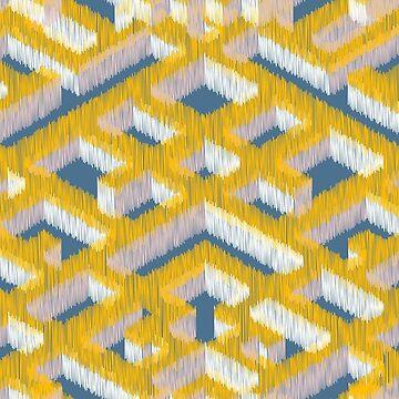 Ikat pattern by lamarmarina