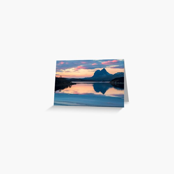Suilven a Winter Sunset Greeting Card