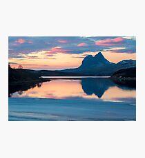 Suilven ein Winter-Sonnenuntergang Fotodruck
