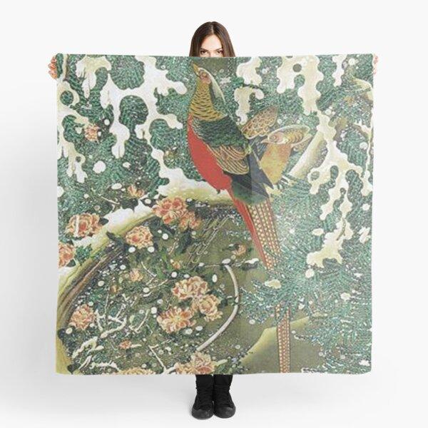 Favourite Artist - Pheasant In A Snowy Pine Tree - Jakuchu Ito Scarf