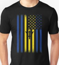 Barbados American Geschenke Slim Fit T-Shirt